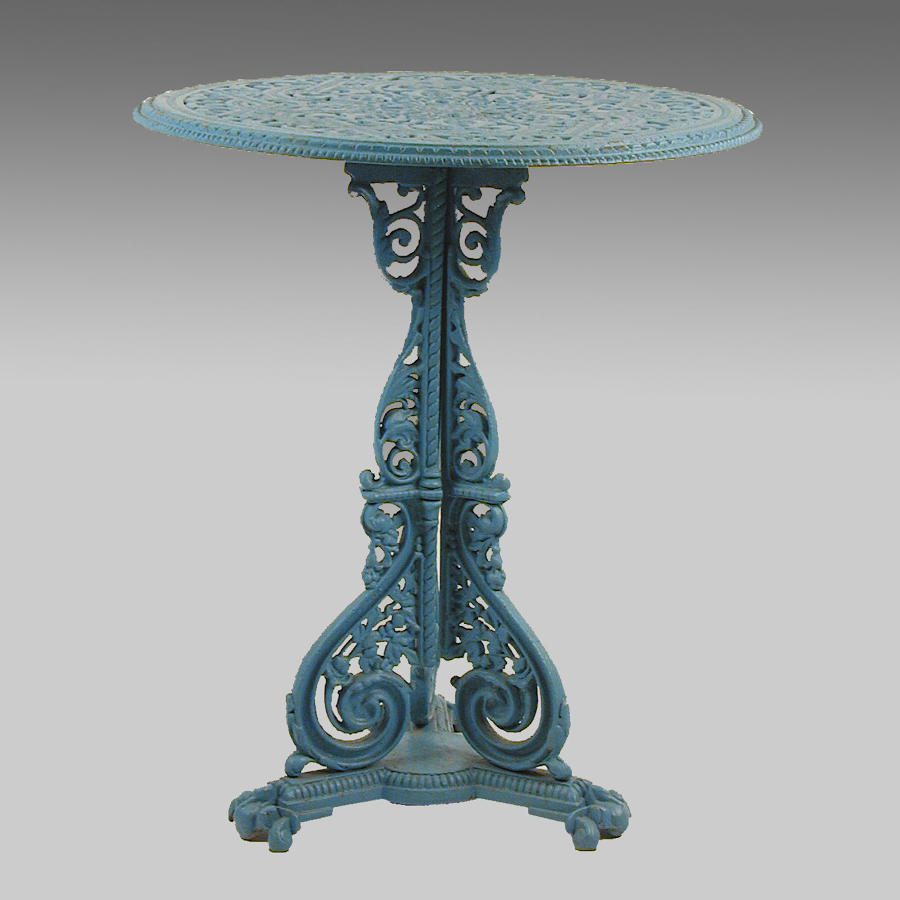 Aesthetic Movement cast iron table by Coalbrookdale Co.