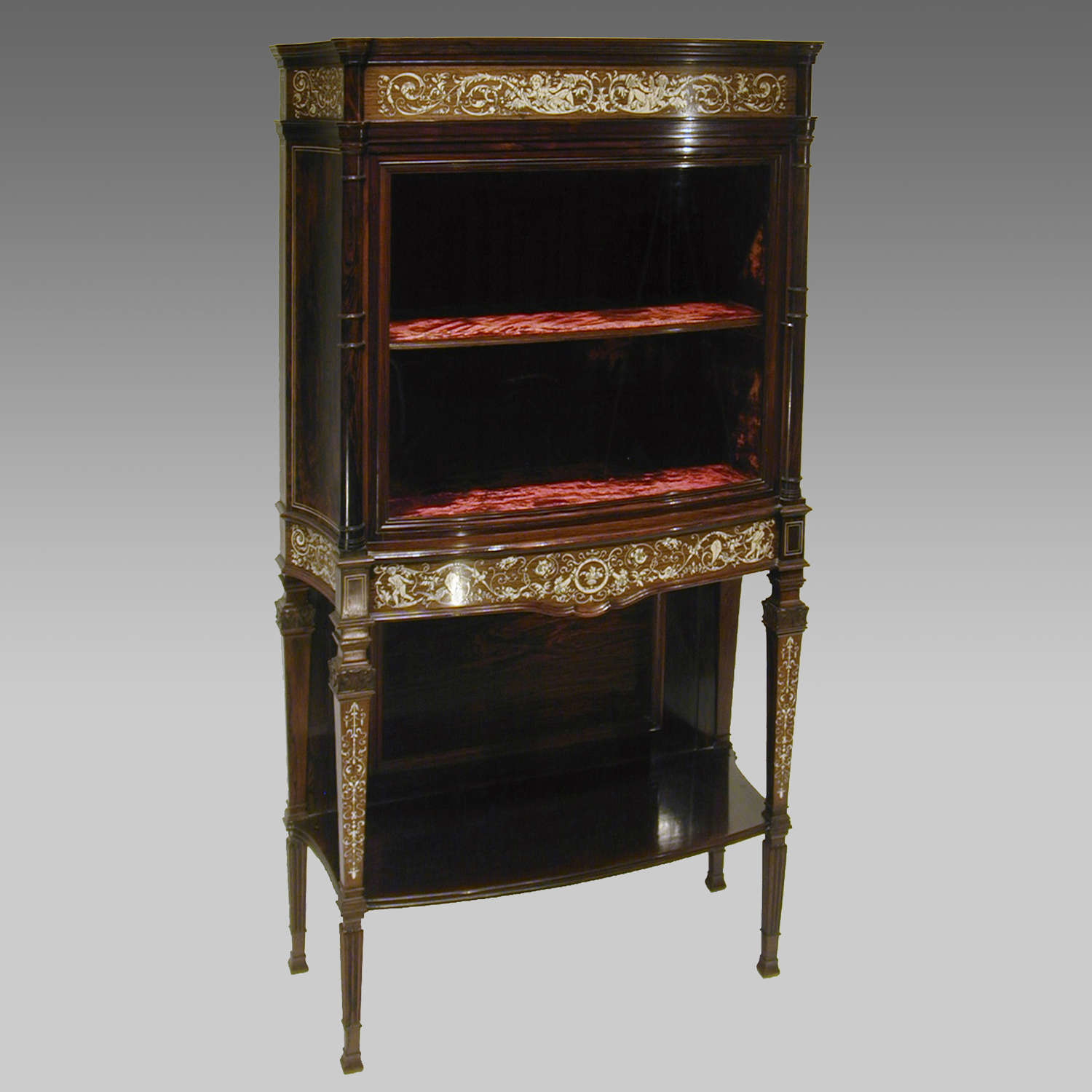 19th century rosewood cabinet by Collinson & Lock