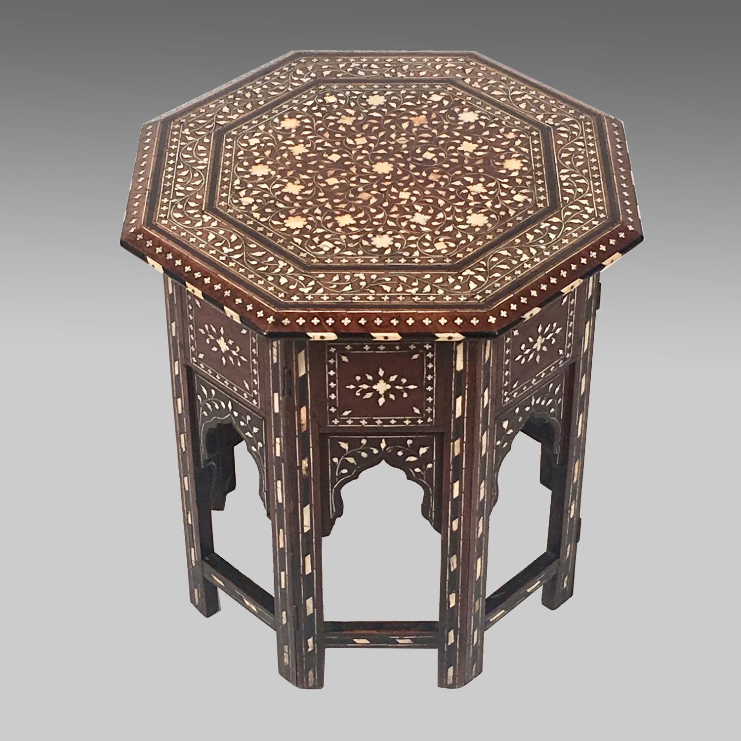 Late 19th century Anglo Indian inlaid table