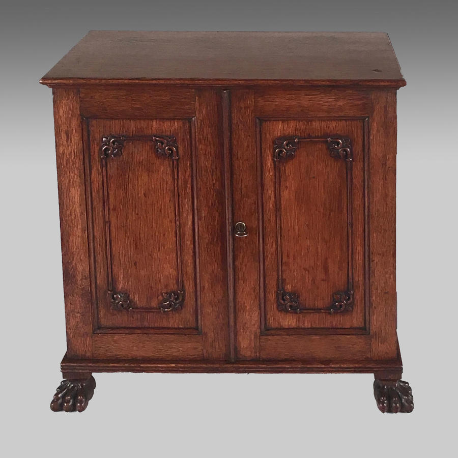 19th century China Trade oak table cabinet