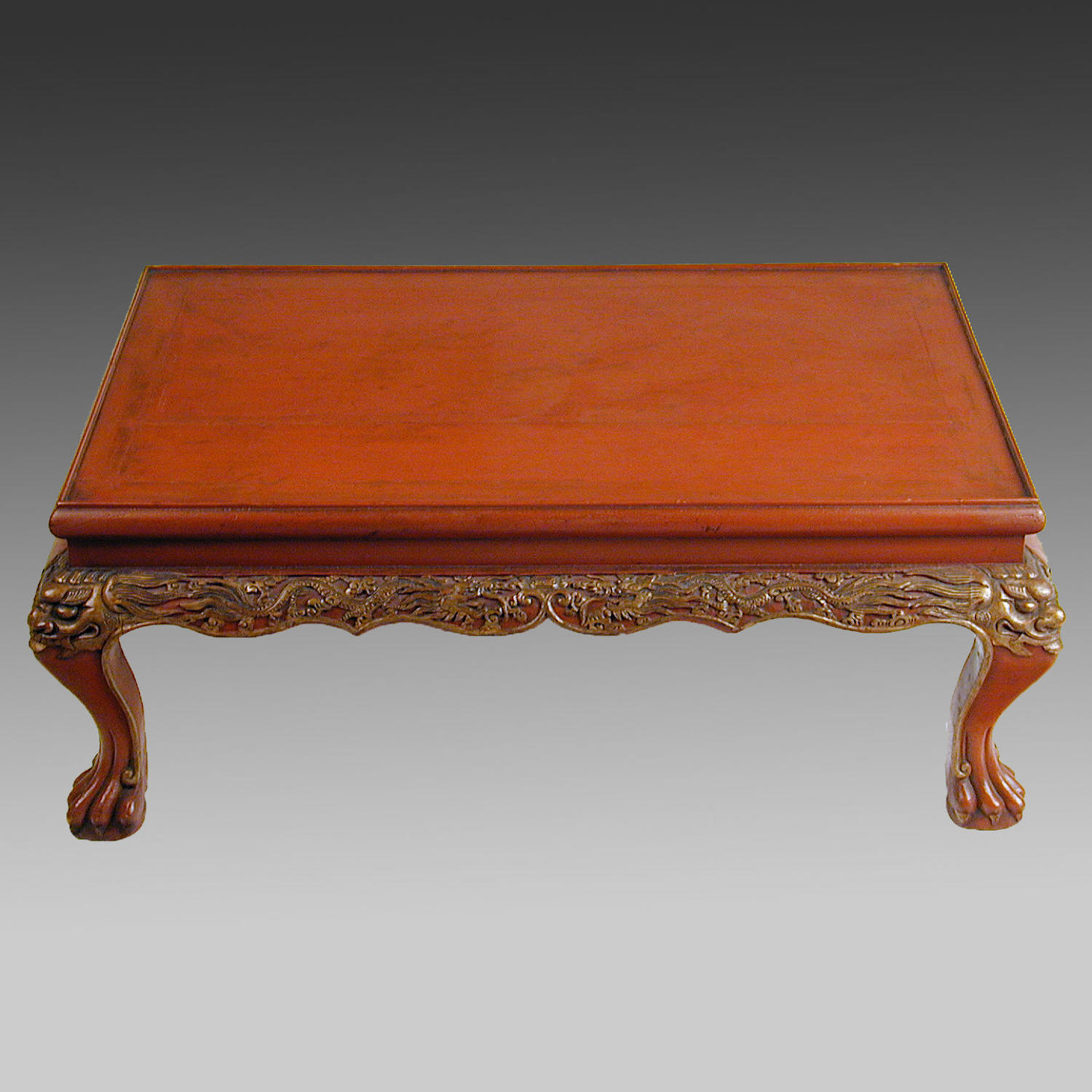 19th century Chinese red lacquer table