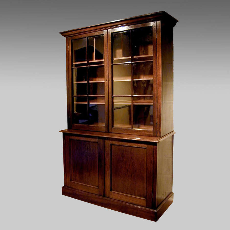 Early 19th century colonial padouk bookcase