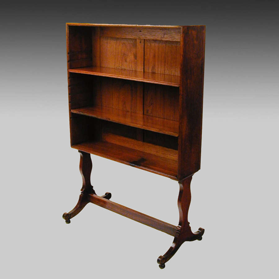 Small Georgian mahogany bookcase on stand