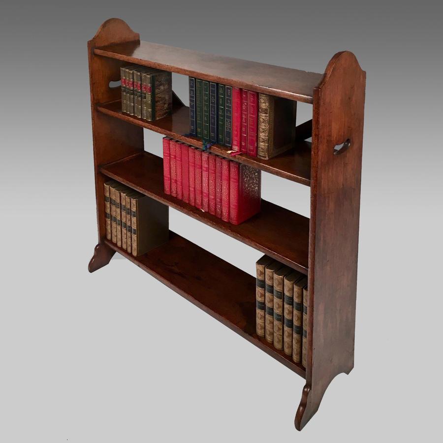 19thC oak open bookcase by Johnstone Jeanes, London