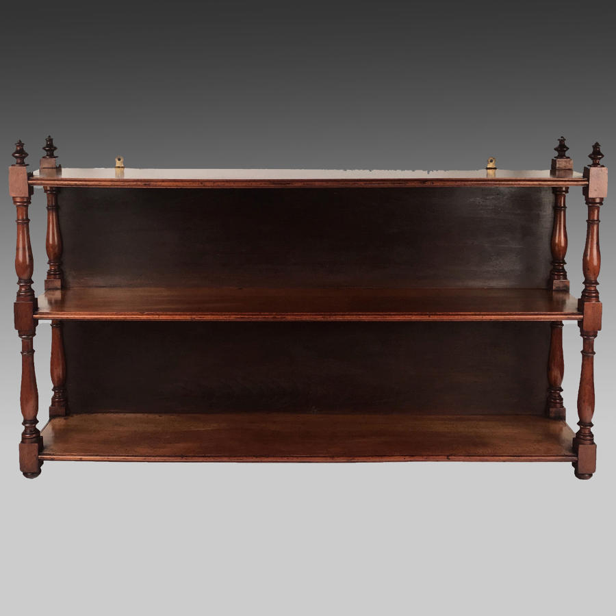 19th century satin birch display shelves