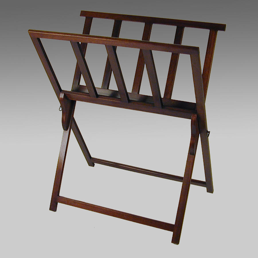 19th century antique folding mahogany folio stand