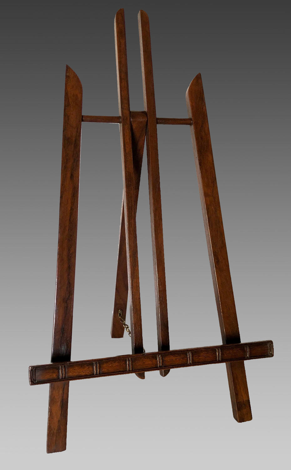 Antique oriental hardwood table display stand