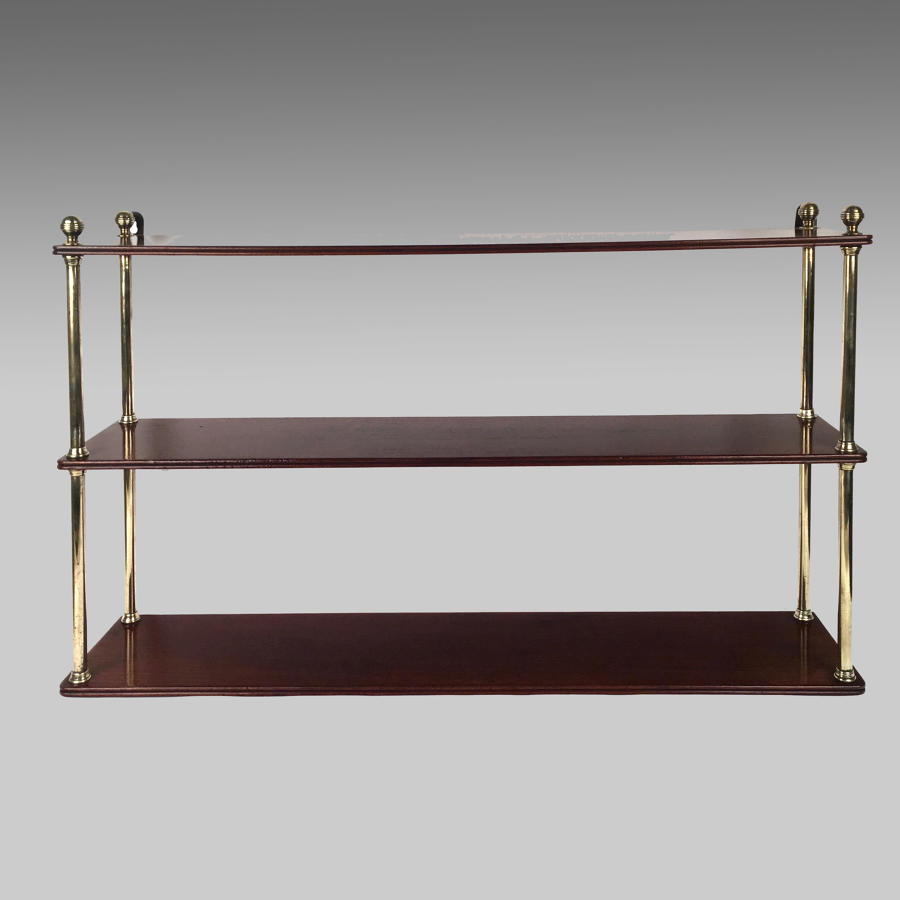 Georgian mahogany campaign shelves