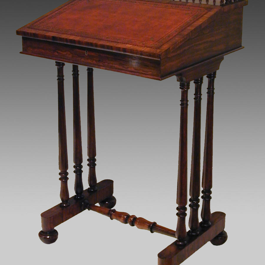 19th century rosewood writing desk