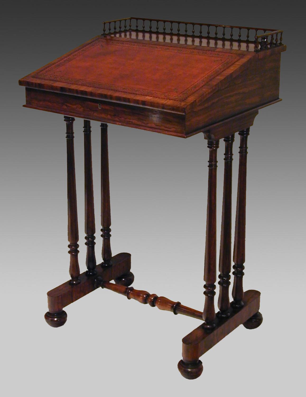 19th century rosewood writing desk