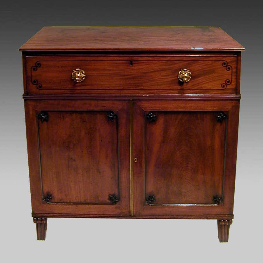 Regency mahogany secretaire cabinet