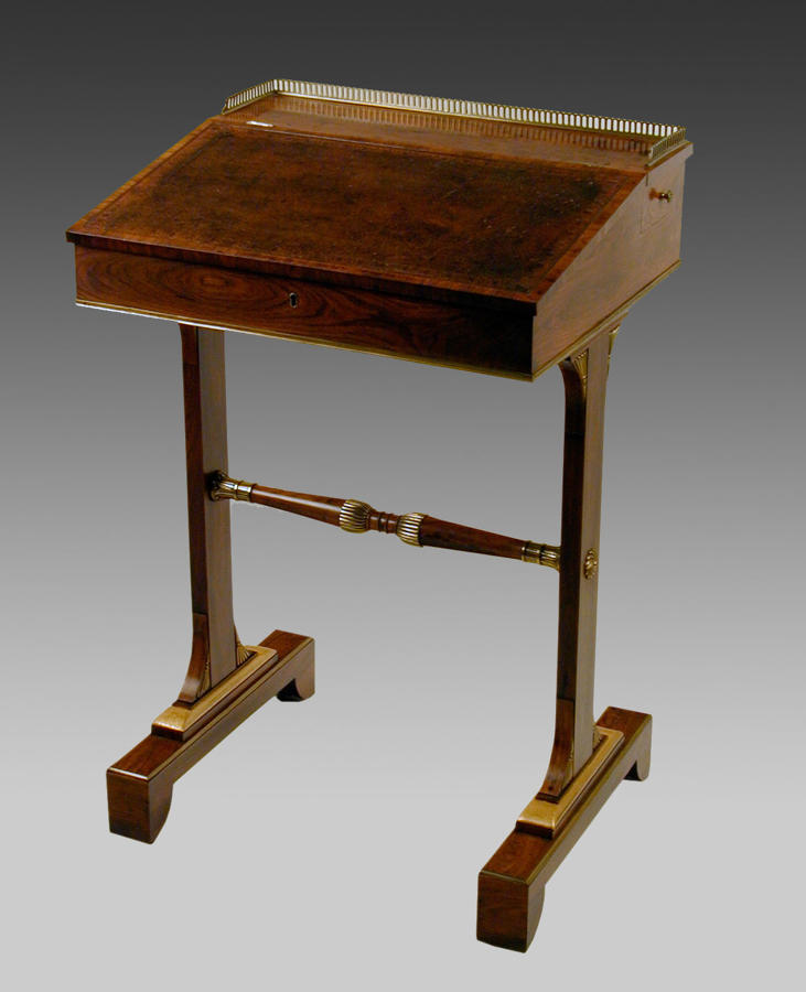 Exceptional Georgian kingwood writing desk