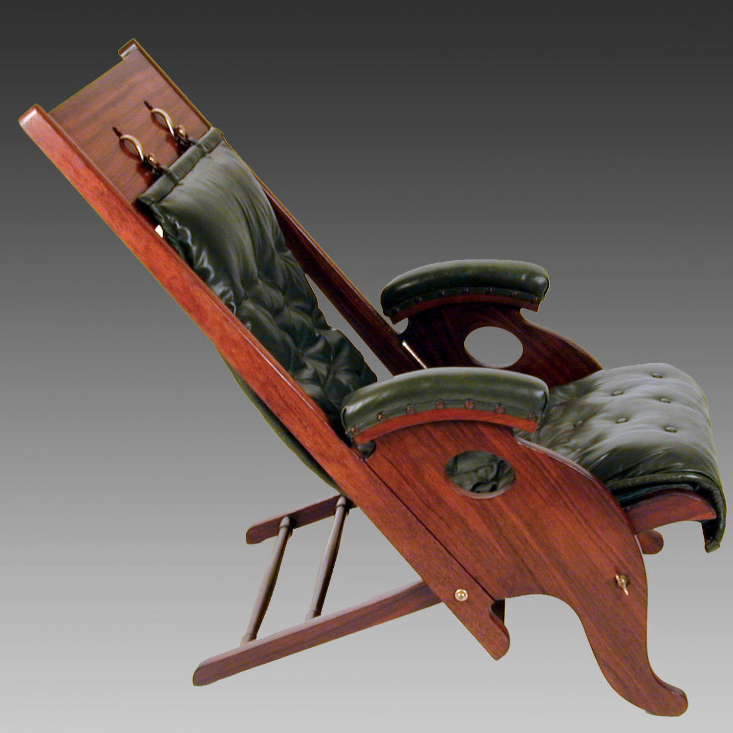 19th century Anglo-Indian padouk campaign chair