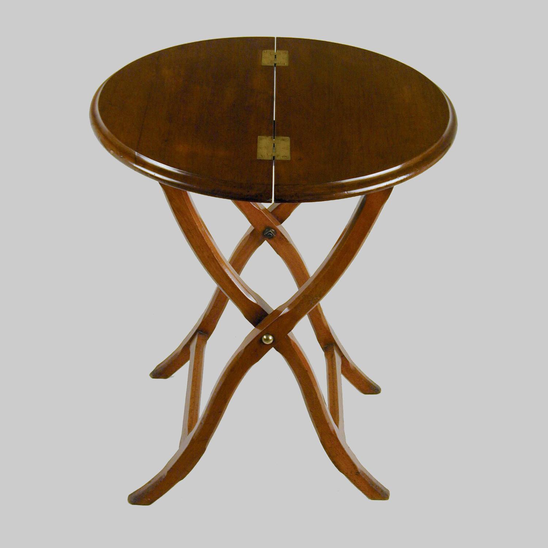 19th century mahogany campaign table