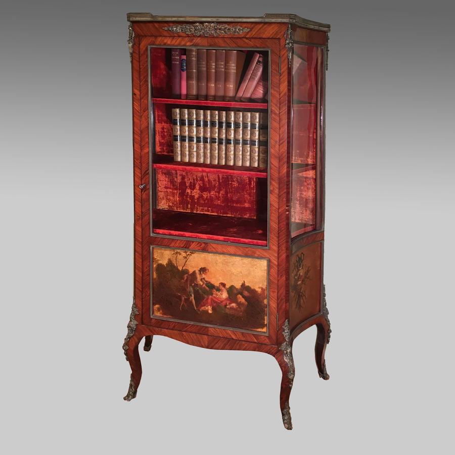 Louis XV style Vernis Martin kingwood vitrine