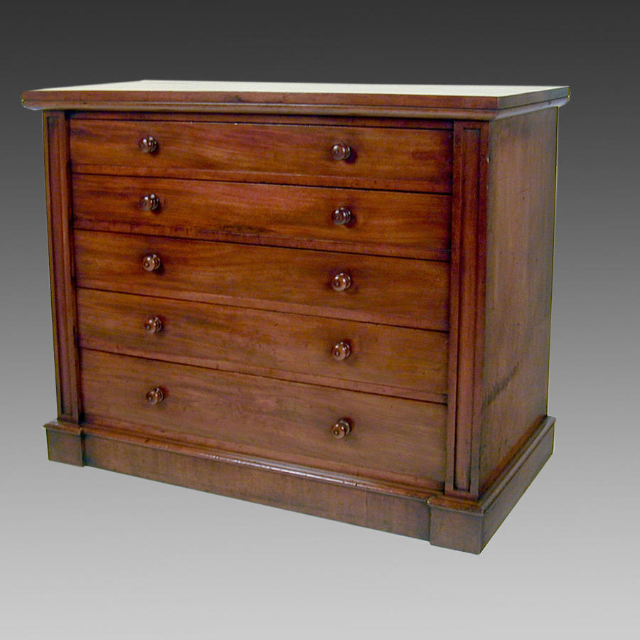 19th century mahogany chest of drawers