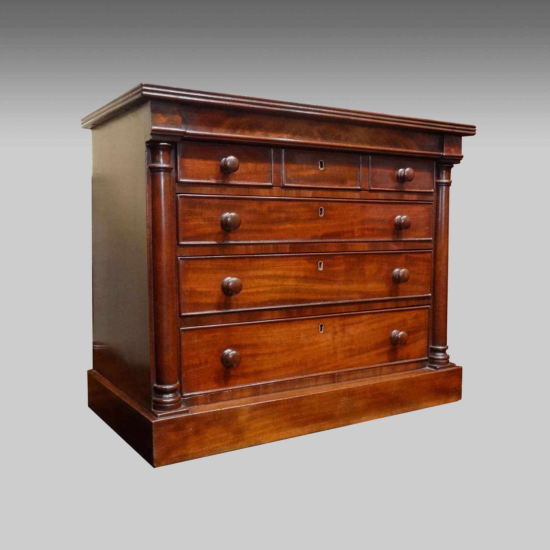 Miniature Regency mahogany chest of drawers