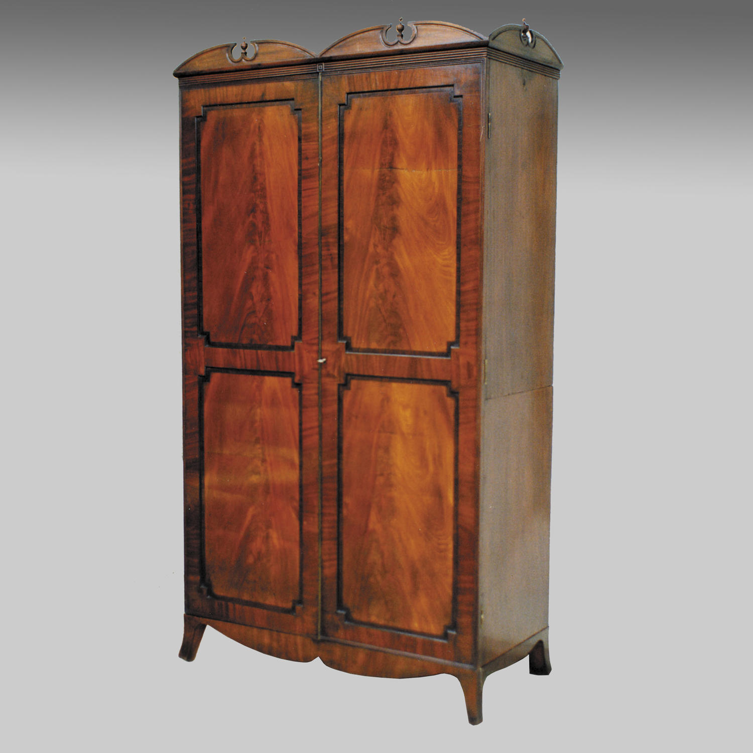 Georgian mahogany two door cupboard