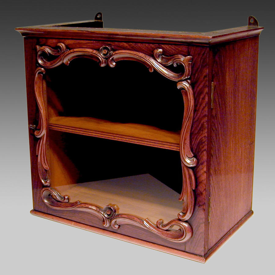 19th century rosewood display cabinet