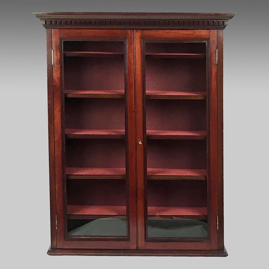 Late 19th century mahogany display cabinet
