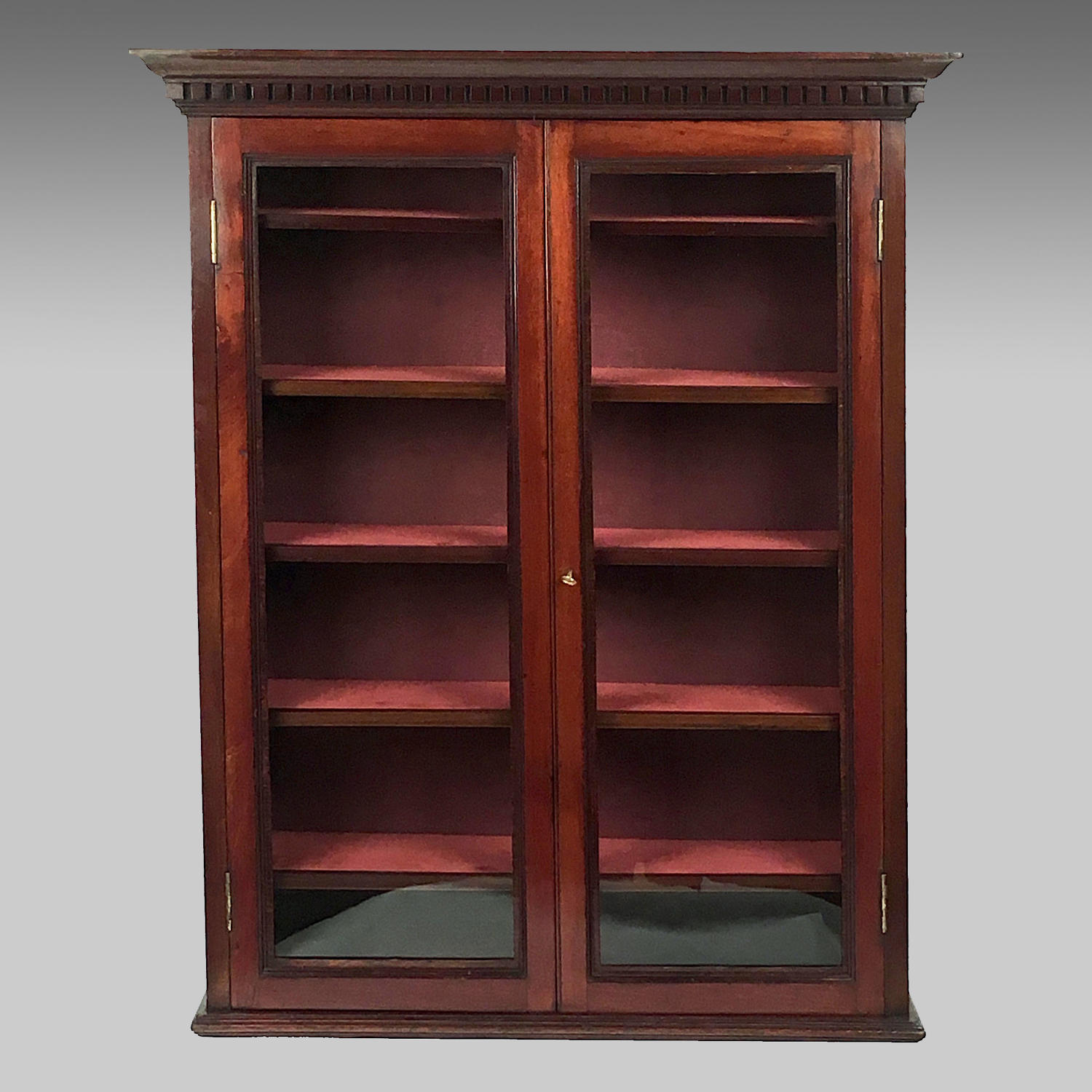 Late 19th century mahogany display cabinet