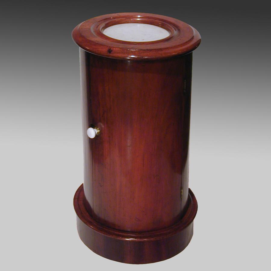 19th century mahogany pedestal cupboard