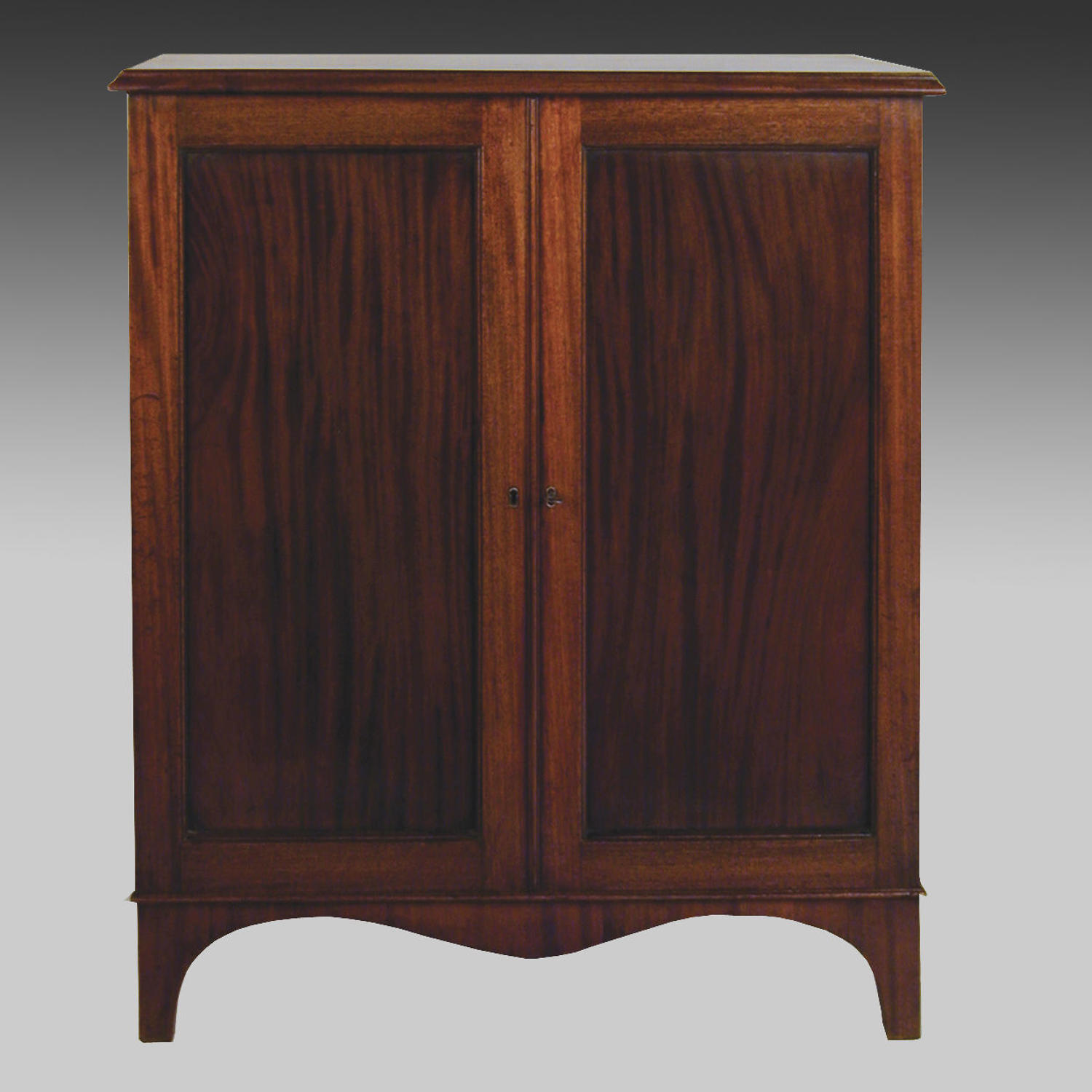 Georgian mahogany two door cabinet