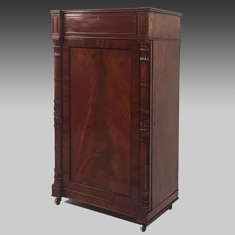 Small Regency mahogany pier cabinet