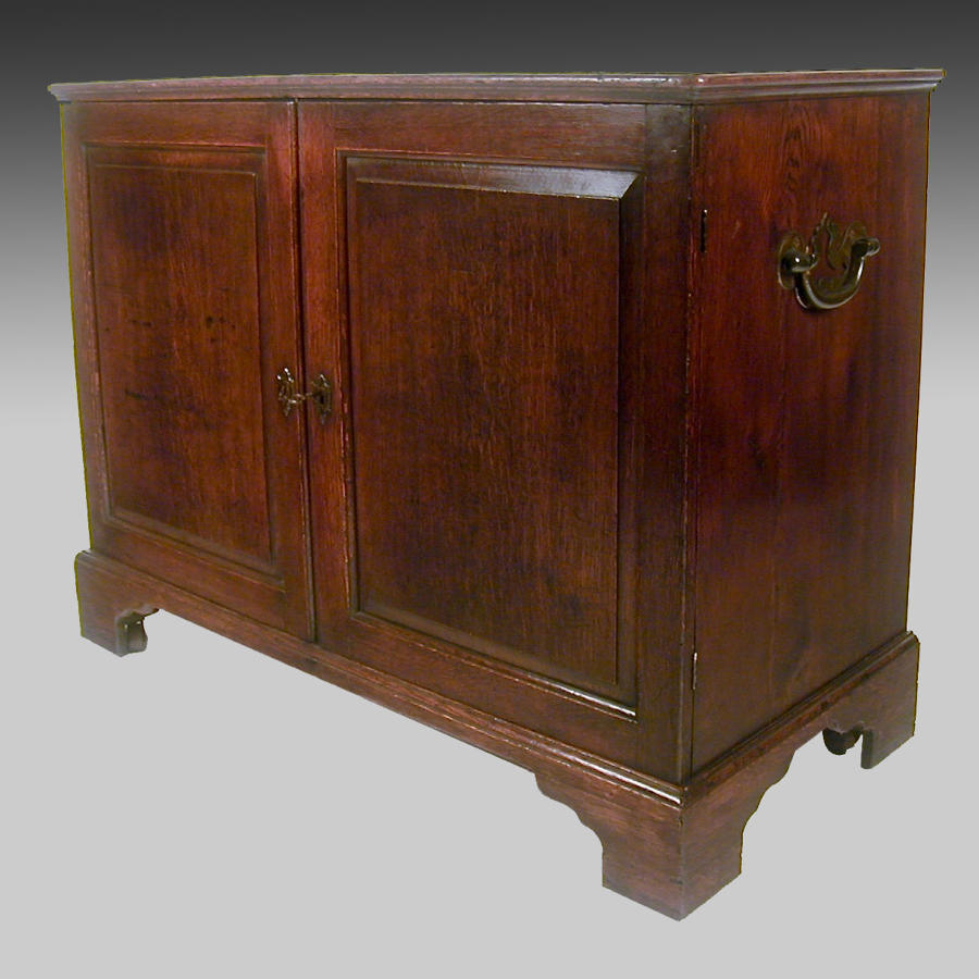 Georgian oak dwarf cabinet