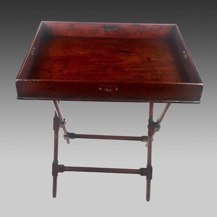 Georgian mahogany butler's tray and stand