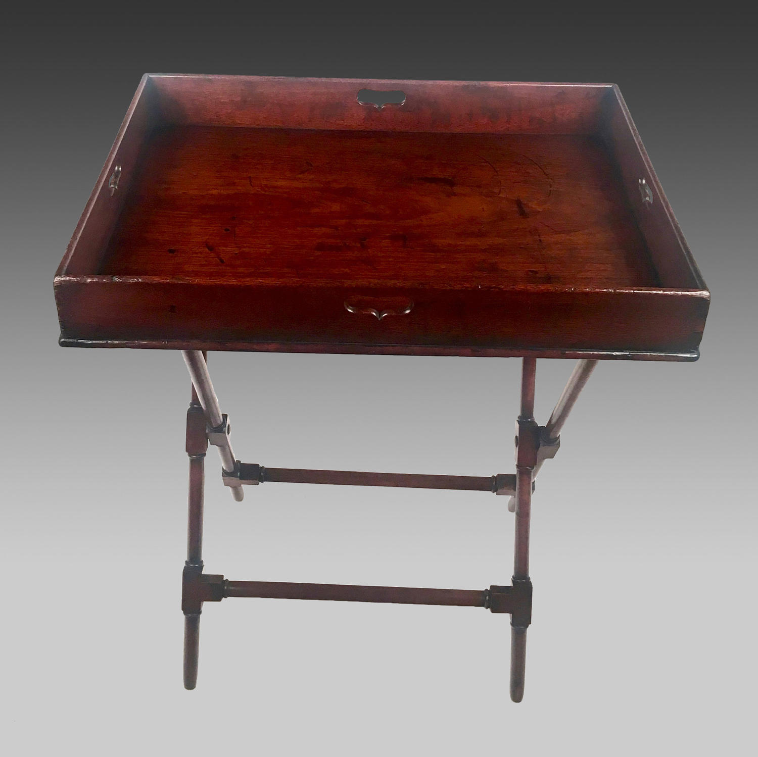 Georgian mahogany butler's tray and stand