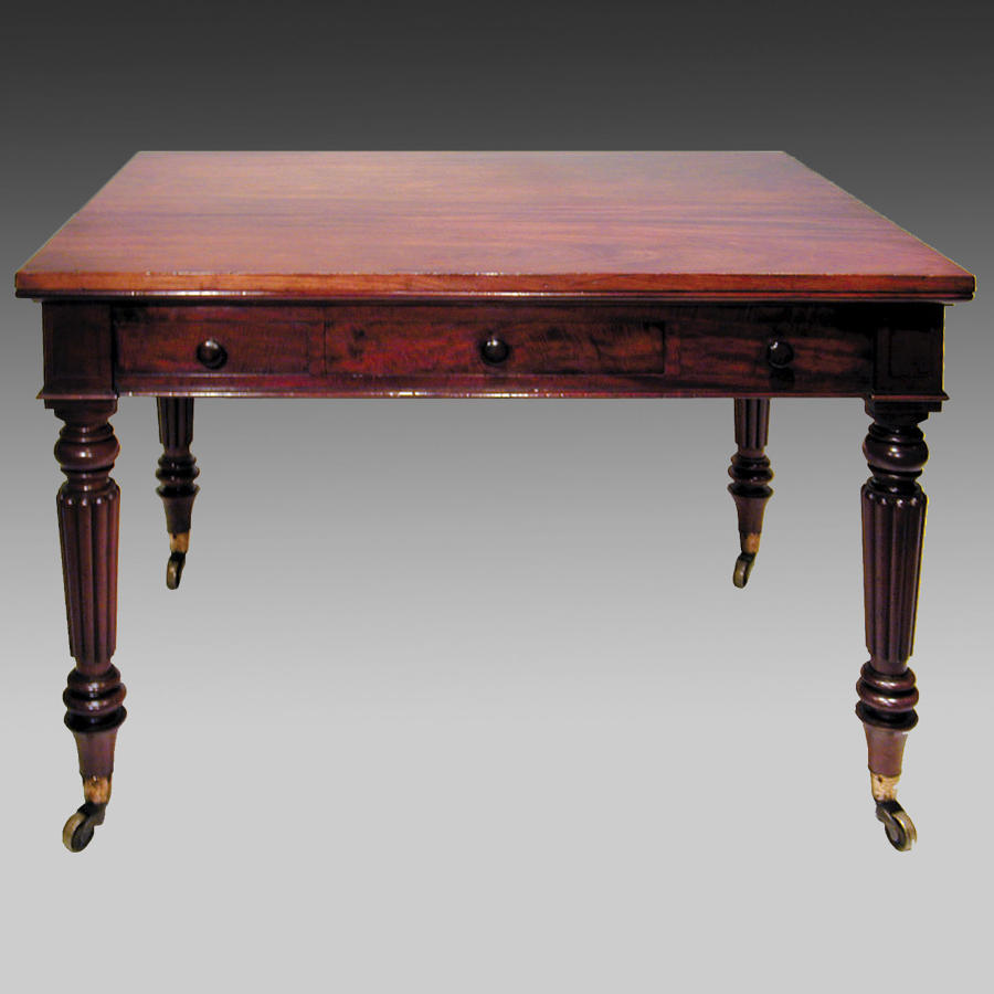 Georgian mahogany metamorphic library or dining table