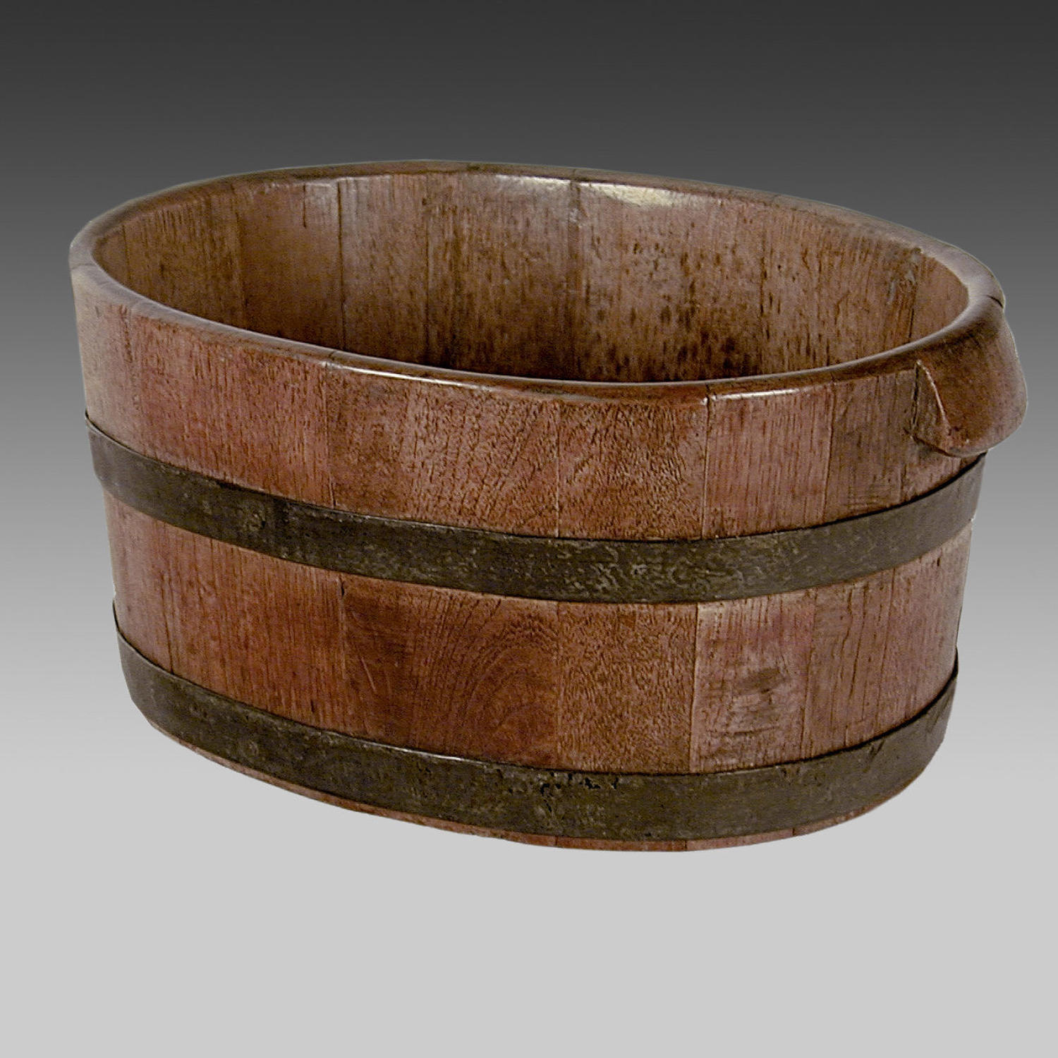 Georgian oak oyster bucket
