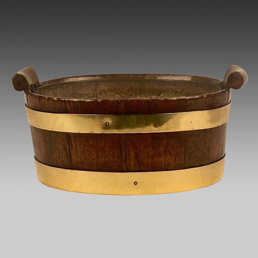 Georgian oval mahogany oyster bucket