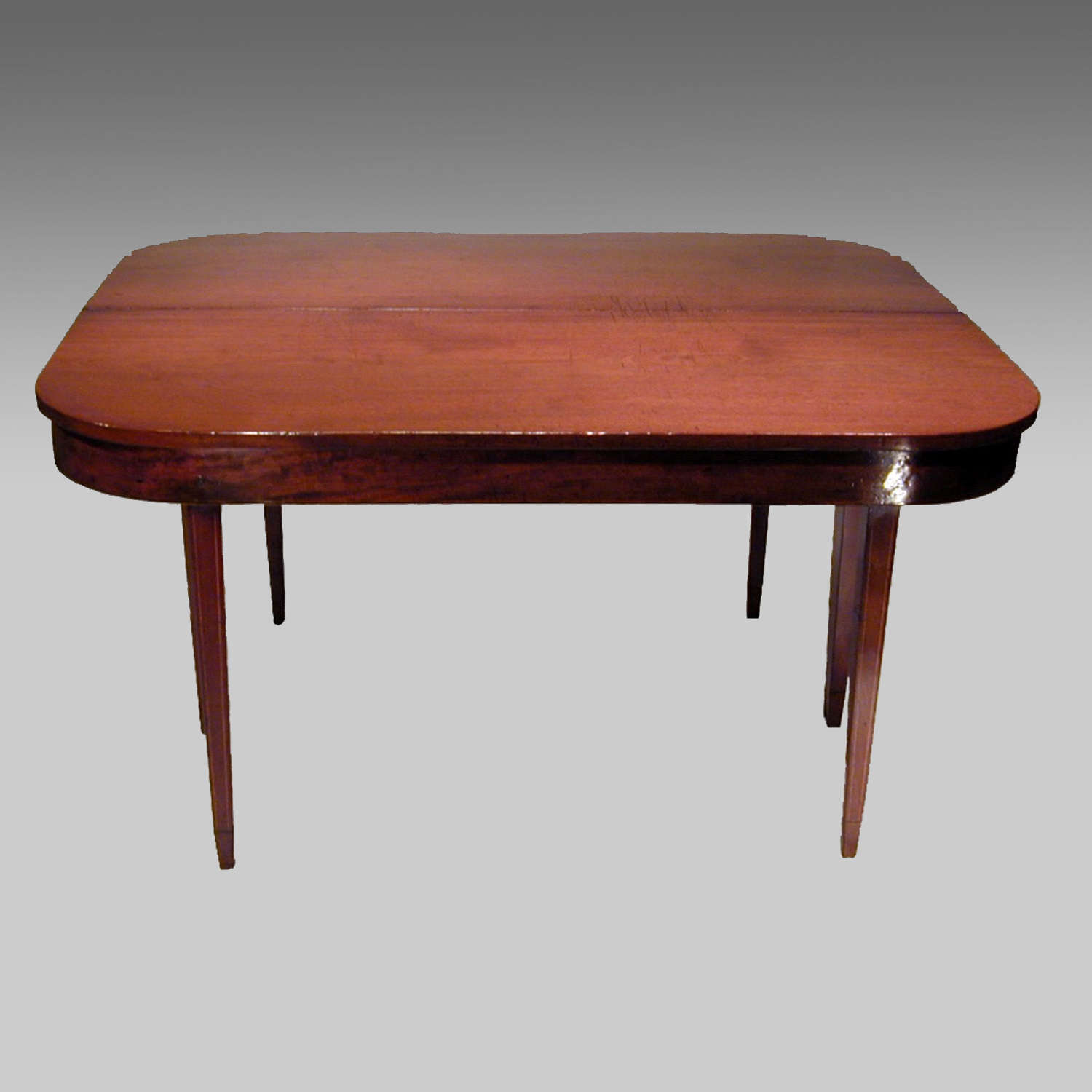 Georgian mahogany D-end dining table