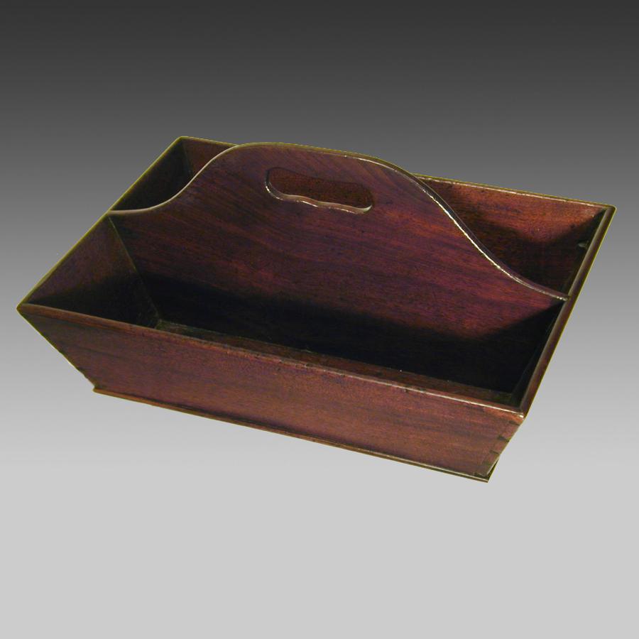 Georgian mahogany cutlery tray