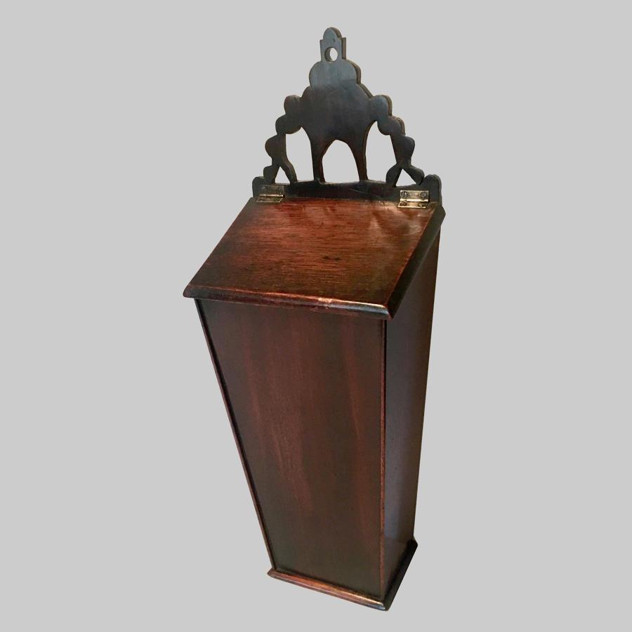 Antique 18th century georgian mahogany wall-hanging cutlery box