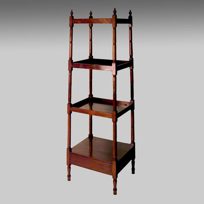 Georgian mahogany A-frame whatnot