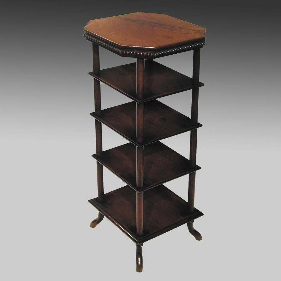 Small Regency mahogany whatnot