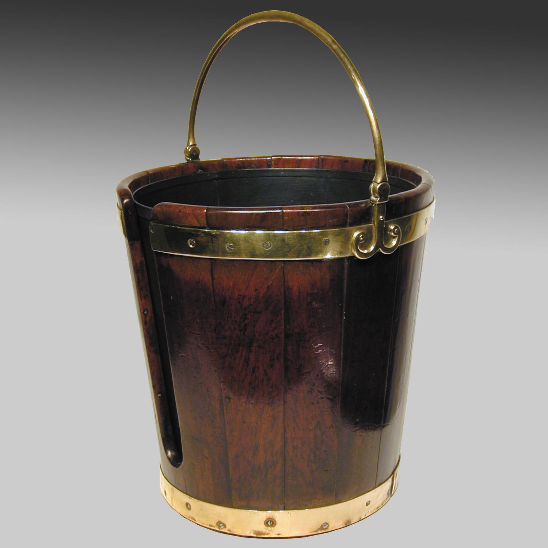 Georgian mahogany plate pail