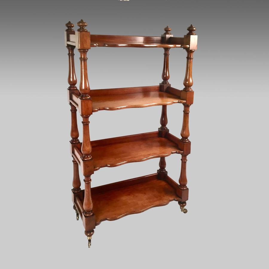 19th century mahogany four tiered whatnot