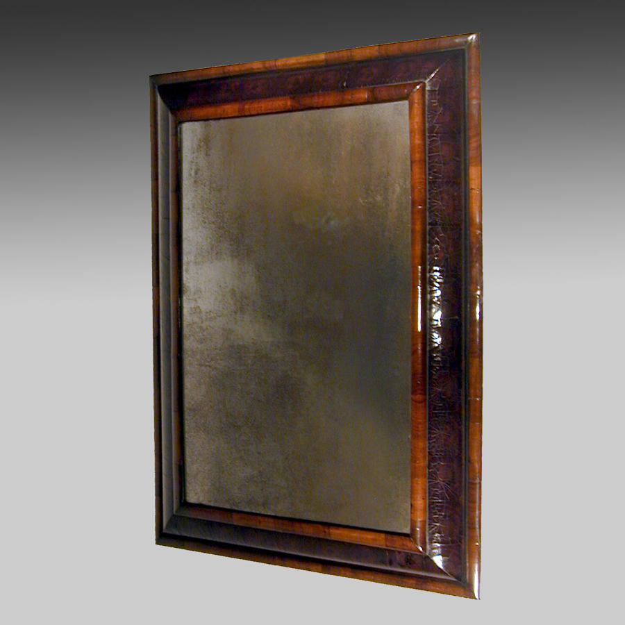 17th century laburnam veneered mirror frame