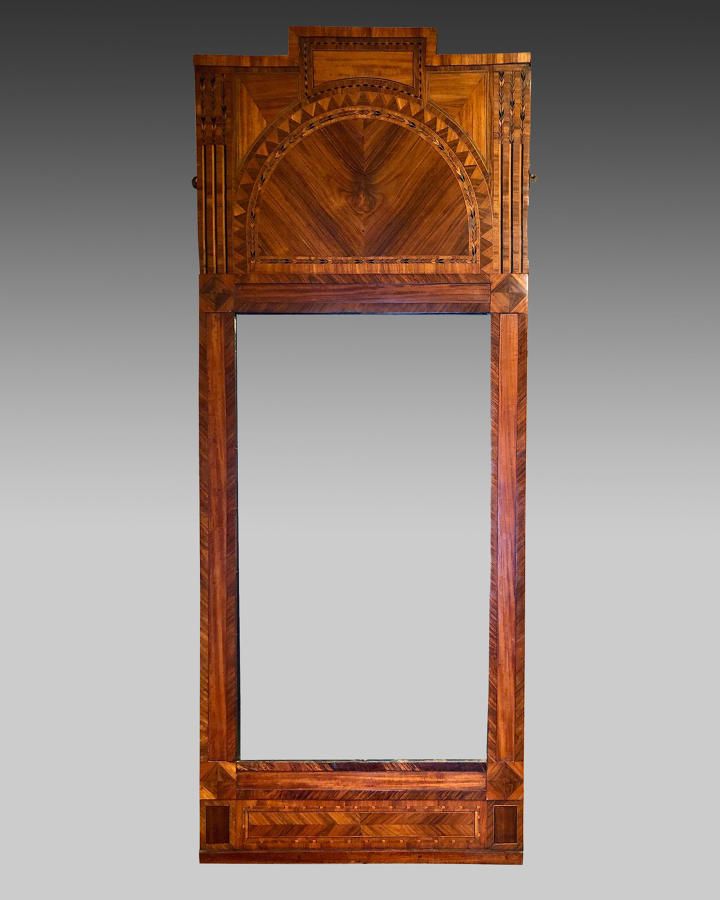Scandinavian, 19th century kingwood pier glass