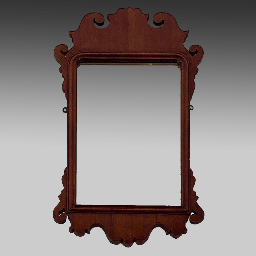 Georgian country Chippendale mahogany portrait mirror