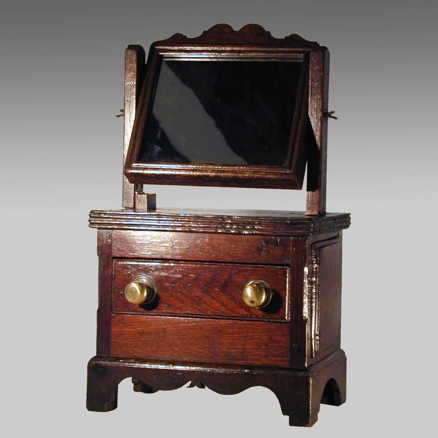 18th century Welsh folk art dressing mirror