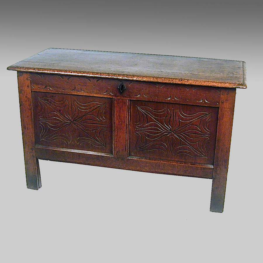 Small 17th century coffer