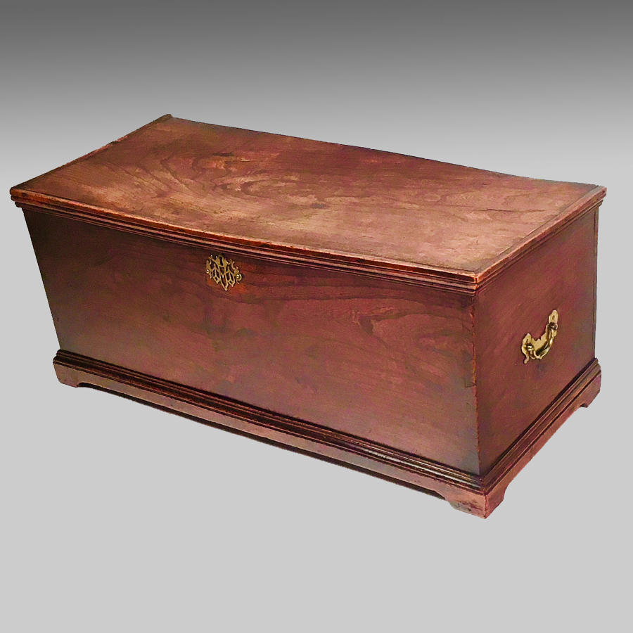 19th century elm blanket chest