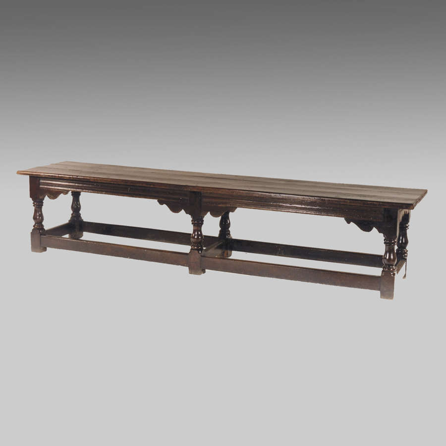 17th century English oak refectory table