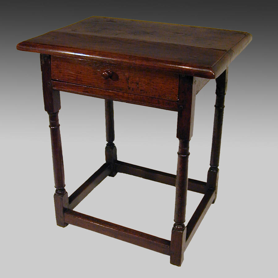 Small 17th century oak centre table