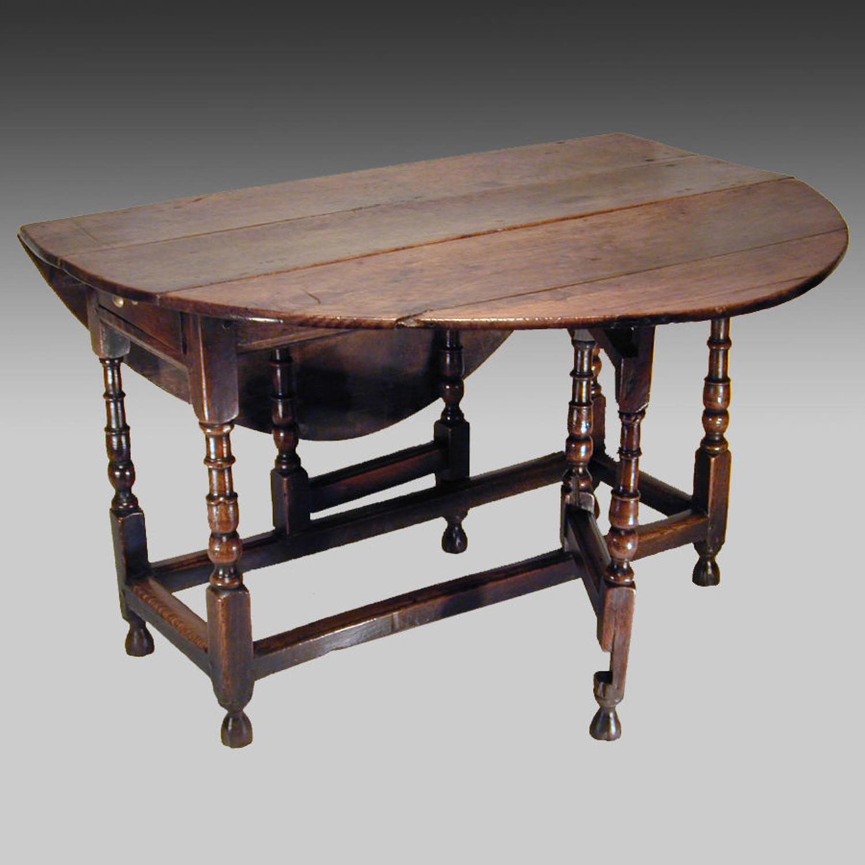 18th century oak gateleg table